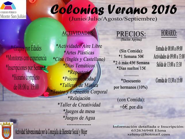 colonias verano san julian 2016