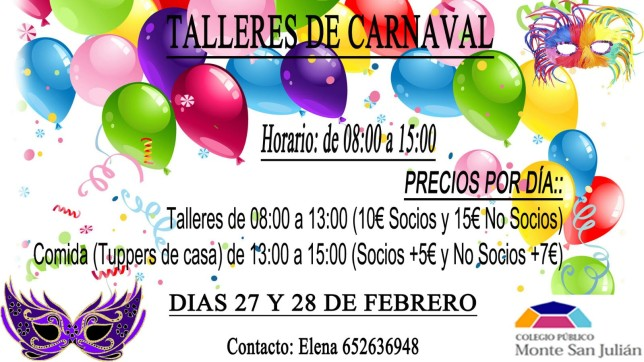Talleres CARNAVAL 2017