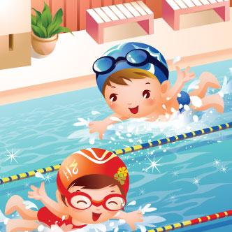 chicos-nadando