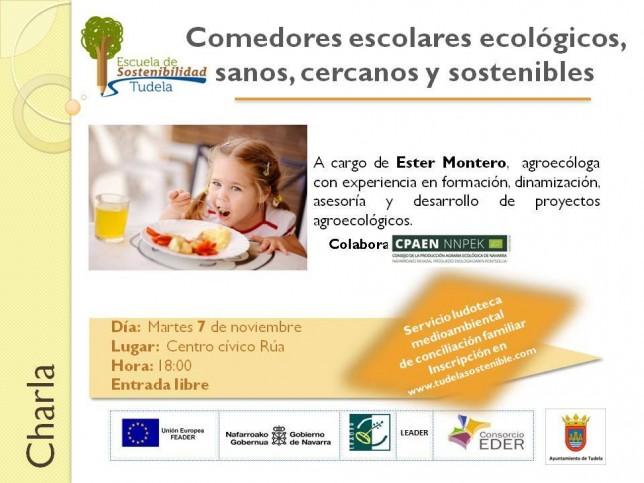 Charla comedores escolares ecológicos