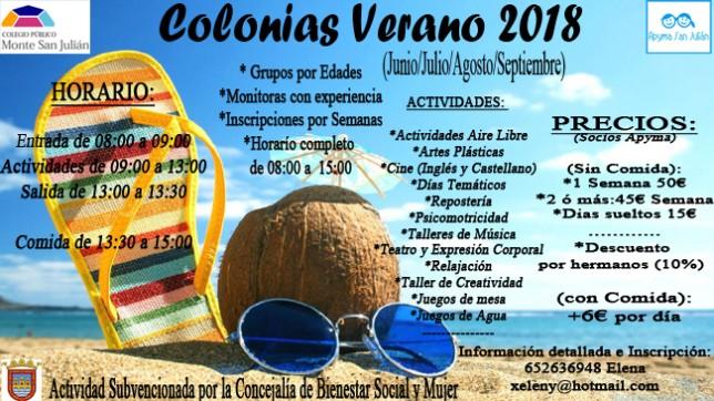 colonias verano 2018